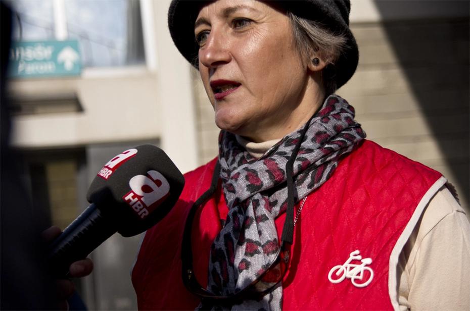 bisiklet eylemi basin