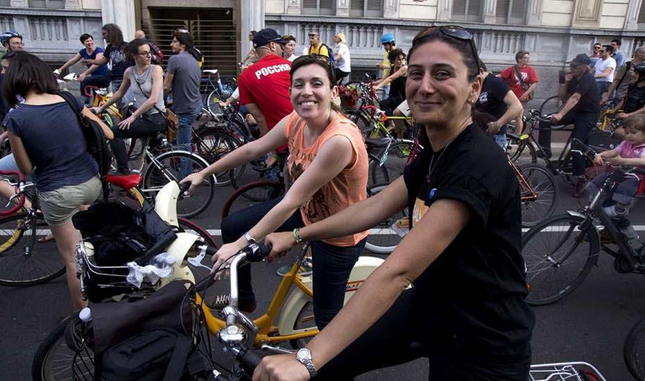 milano bisiklet eylemi