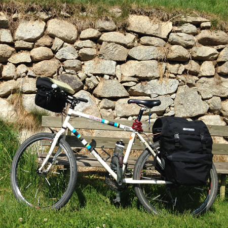 alplerde bisiklet turu