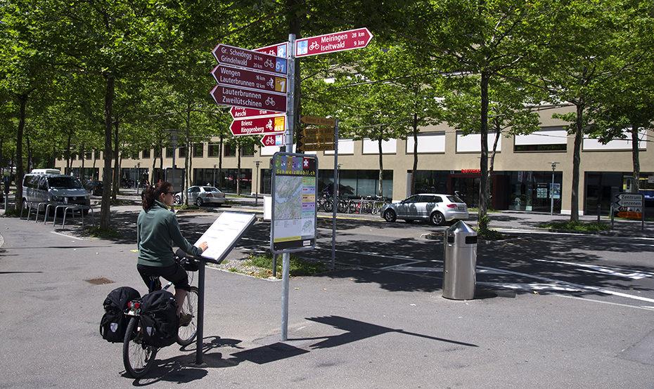 interlaken bike route signs