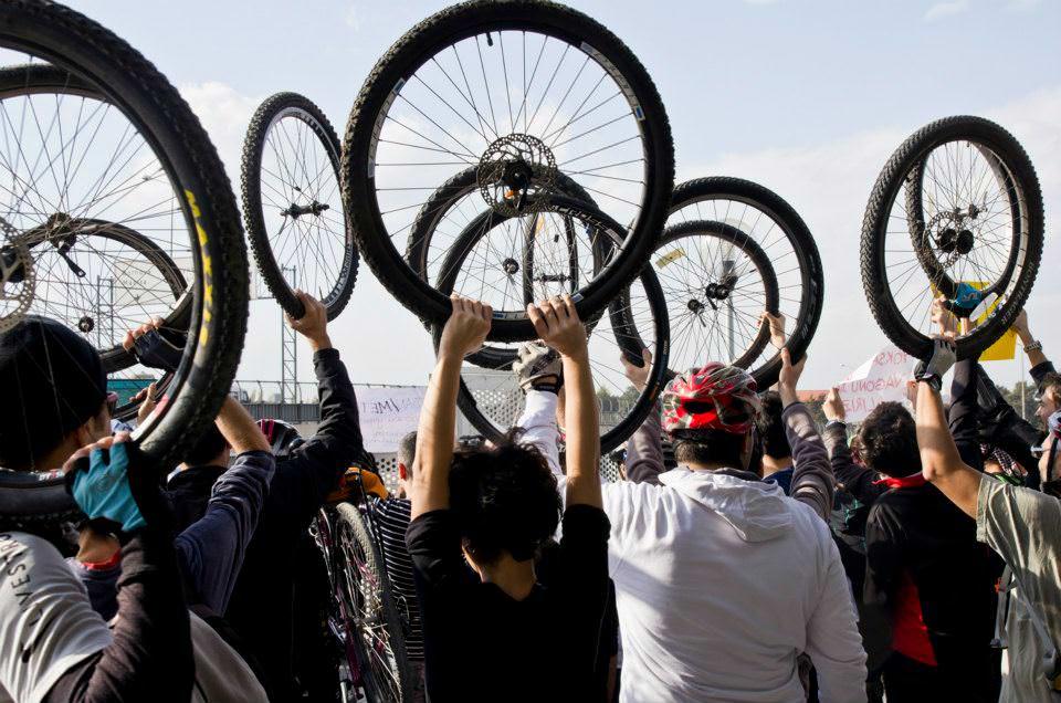 bisiklet eylemi izmir