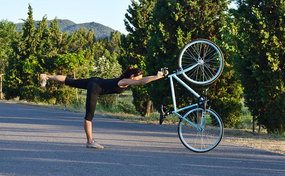 bisiklet yoga