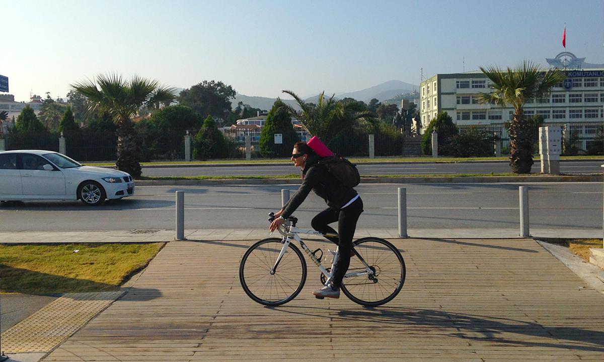 bisiklet yoga ulasim