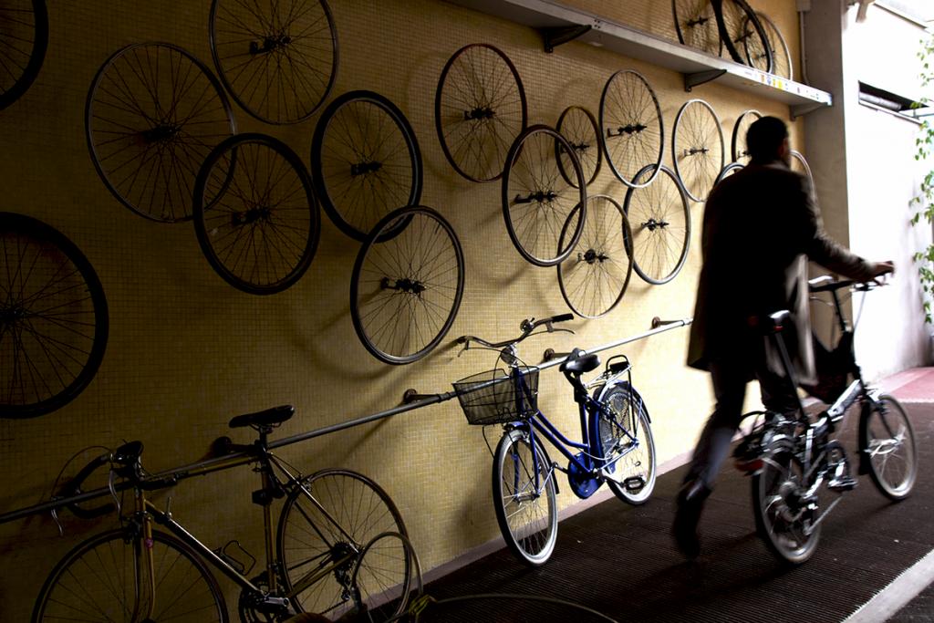 milano'da bisiklet