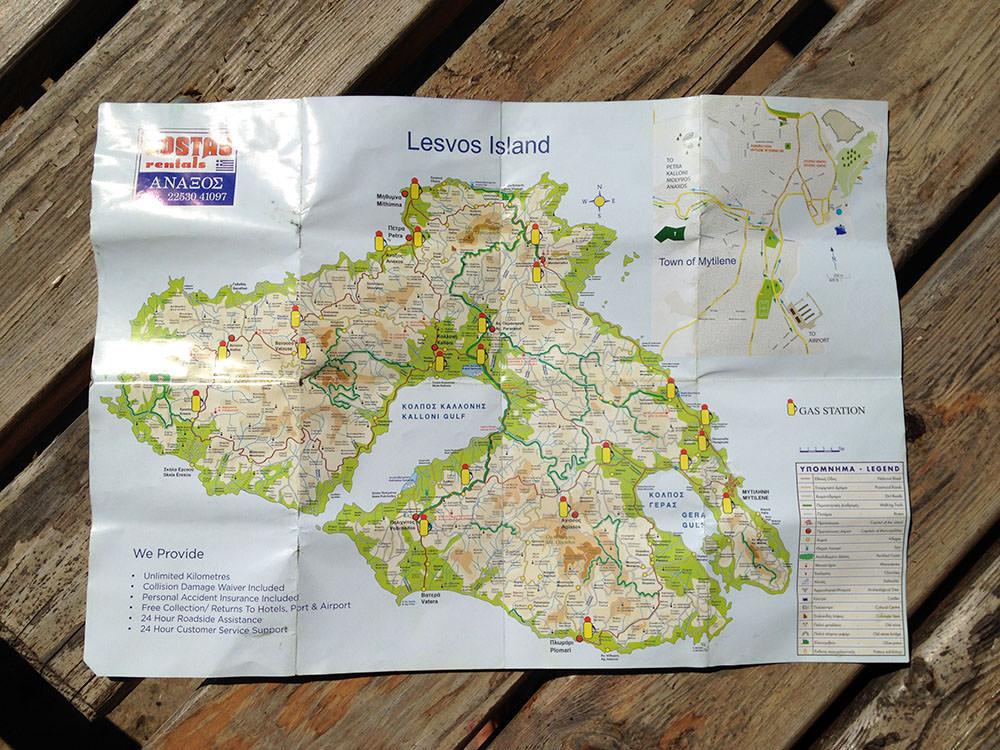 midilli bisiklet turu harita