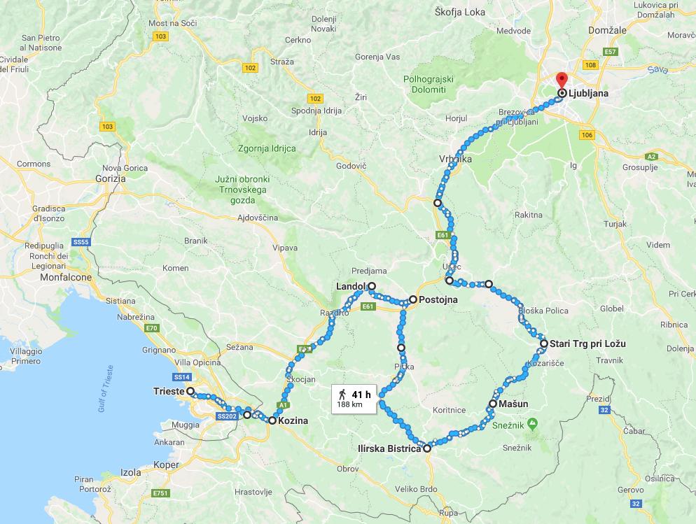 slovenya bisiklet rotasi